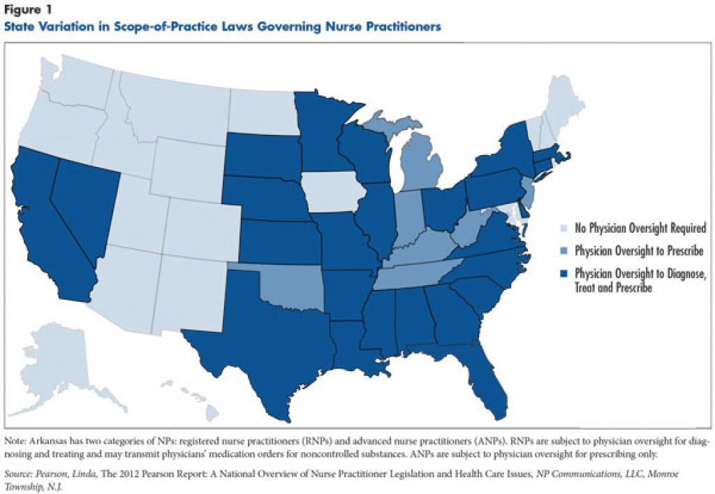 Nihcrprimary Care Workforce Shortages: Nurse Practitioner Scope-Of regarding Nurse Practitioner Prescriptive Authority By State Map