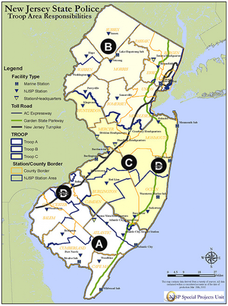 Nj State Police Patrol Areas Troop B - The Radioreference Forums intended for Pa State Police Barracks Map
