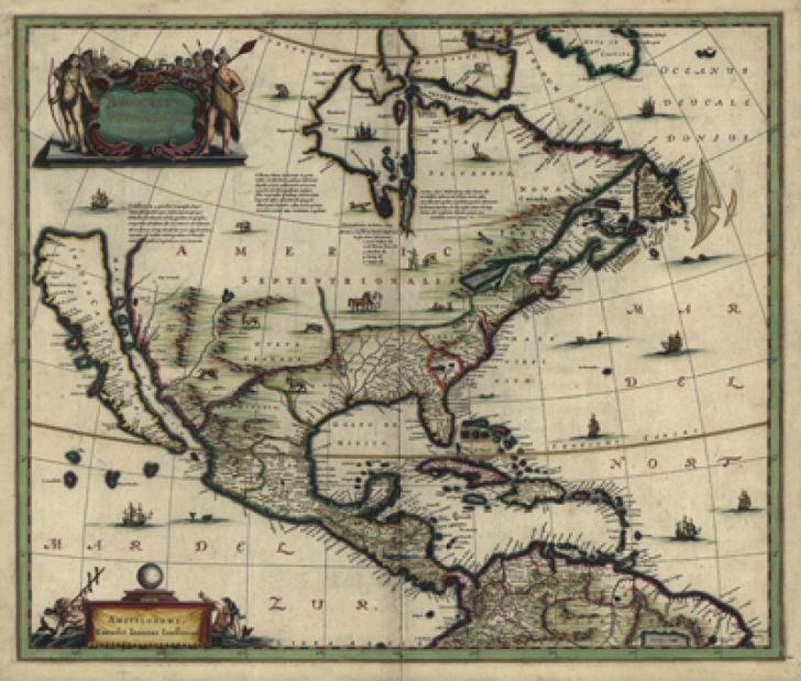1700 Map Of The United States
