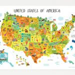 North America Map For Kids And Travel Information   Download Free Inside State Map For Kids