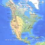 North America Physical Map – Freeworldmaps Throughout United States And Canada Physical Map