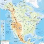 North America Physical Map | Physical Map Of North America Regarding United States And Canada Physical Map