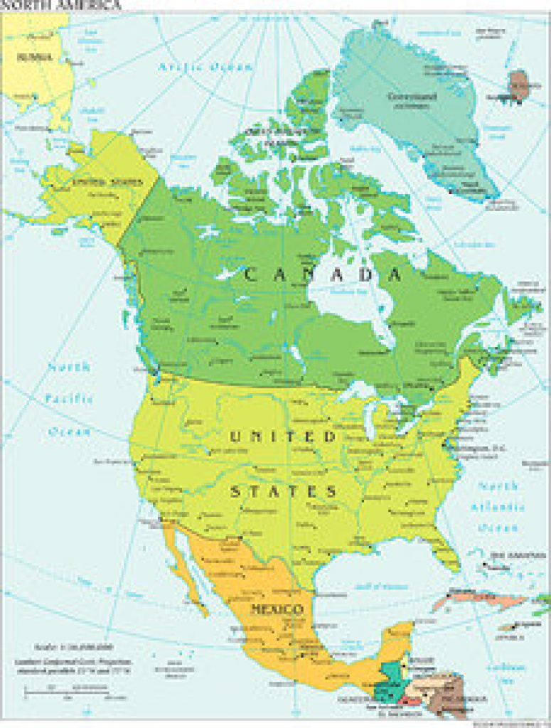 North American Countries & Capitals | Study within North America Map With States And Capitals