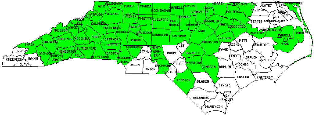 North Carolina Counties Visited (With Map, Highpoint, Capitol And Facts) pertaining to Nc State Map With Counties