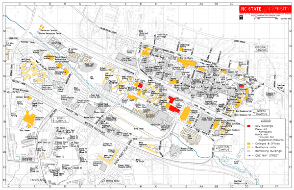 North Carolina State University At Raleigh Map - Raleigh Nc • Mappery pertaining to Kent State University Map Pdf