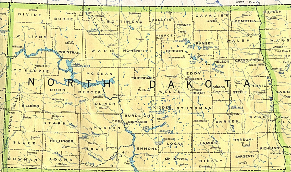 North Dakota Maps - Perry-Castañeda Map Collection - Ut Library Online within North Dakota State Highway Map