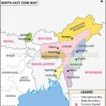 North East India Map, Seven Sisters Of India Within Outline Map Northeast States