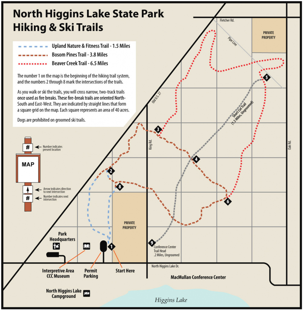 North Higgins State Parkmaps & Area Guide - Shoreline Visitors Guide within South Higgins Lake State Park Map