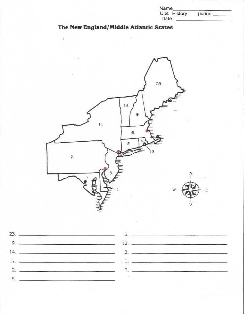 Northeast Region Map With Capitals Best Of Us Northeast Region Blank intended for Northeast Region States And Capitals Map