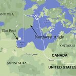 Northwest Angle   Wikipedia Within Map Of Northwest United States And Canada