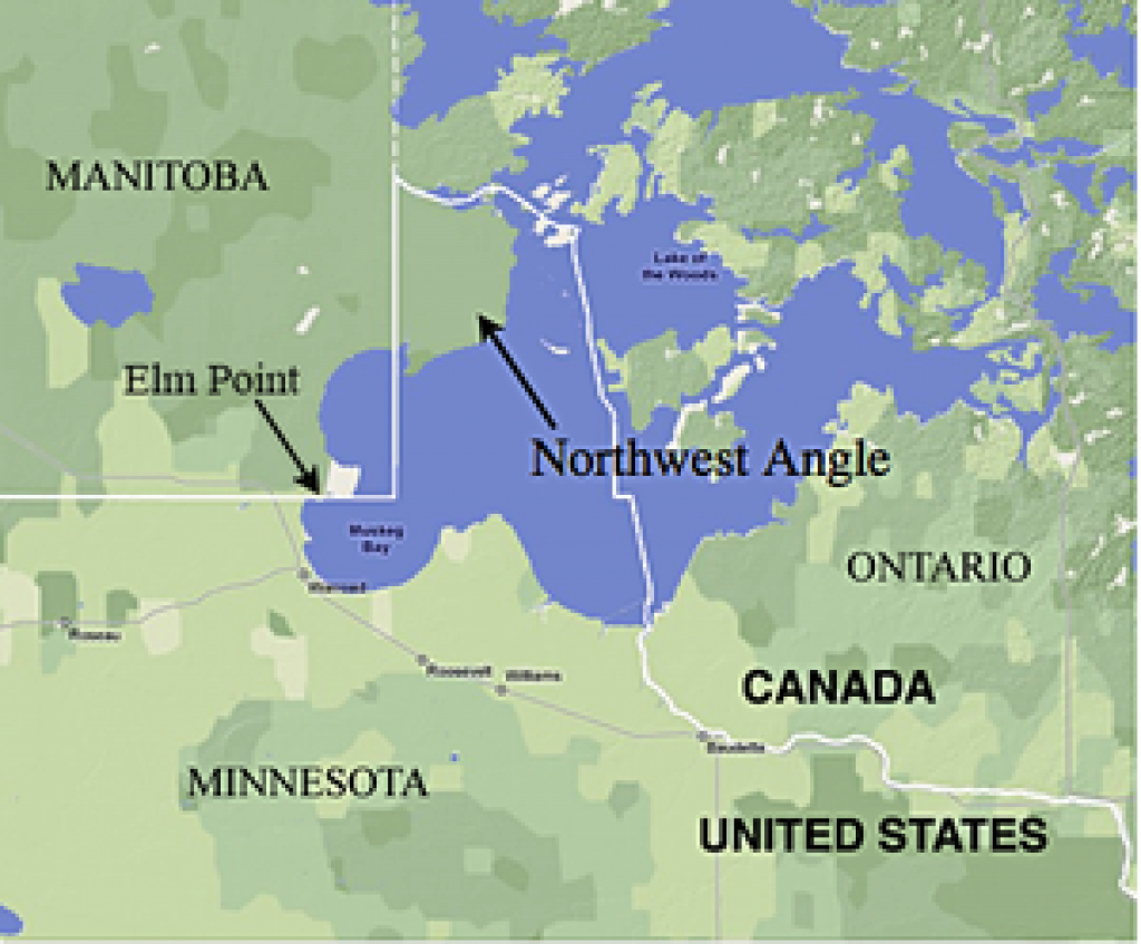 Northwest Angle - Wikipedia within Map Of Northwest United States And Canada