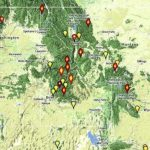 Northwest Fires   Wildfire Today Intended For Map Of The Washington State Fires