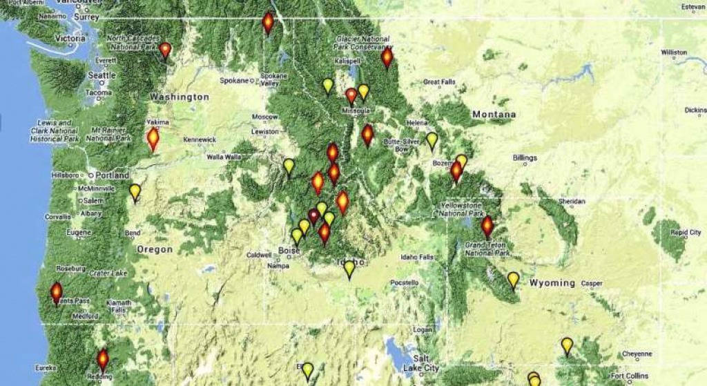 Northwest Fires - Wildfire Today intended for Map Of The Washington State Fires