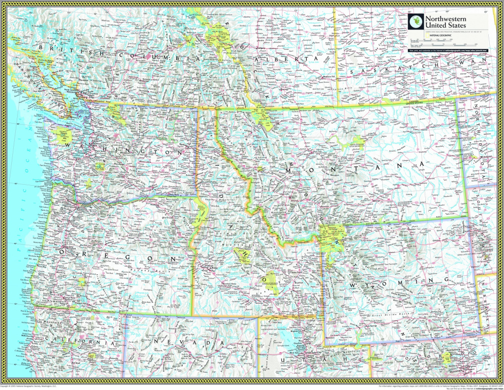 Northwestern United States Atlas Wall Map - Maps within Map Of Northwest United States And Canada