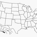 Numbered Map Of Usa Printable Fresh Blank Map United States Intended For A Blank Map Of The United States