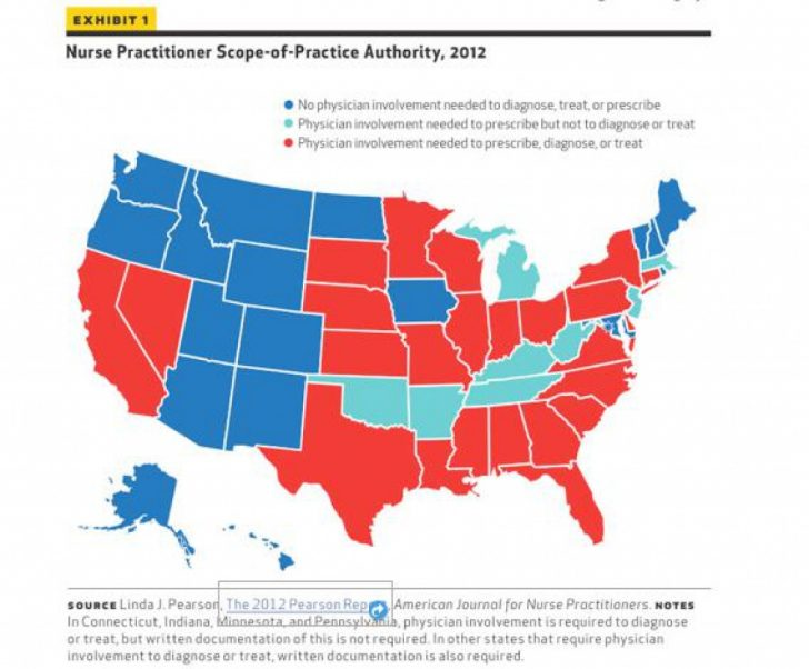 Nurse Practitioner Prescriptive Authority By State Map
