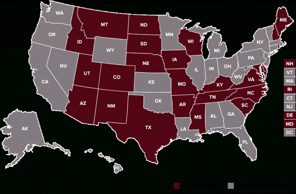 Nursing Licensure Compact with Compact State Nursing Map