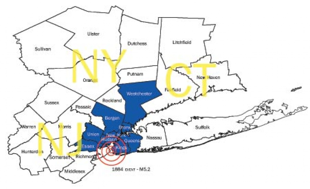 Nycem Study Assesses Possible Earthquake Damage To Metropolitan Ny pertaining to Map Of Tri State Area Ny Nj Ct
