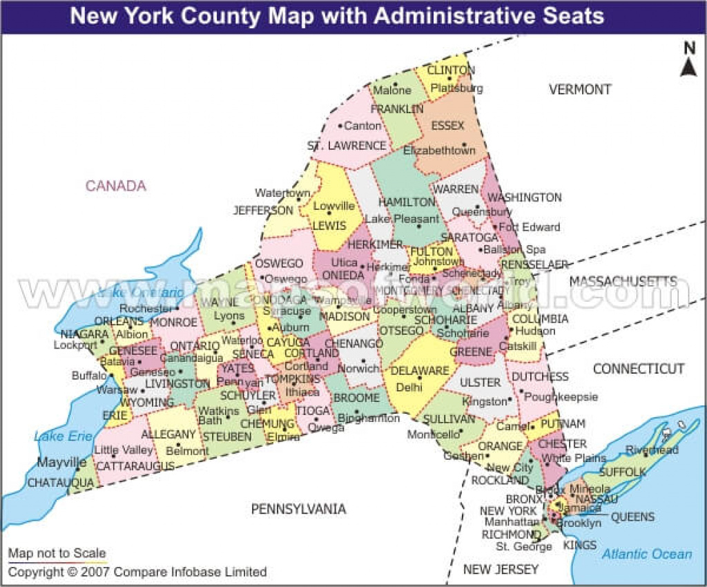 Nys County Map With Roads And Travel Information   Download Free Nys for Tri State Road Map