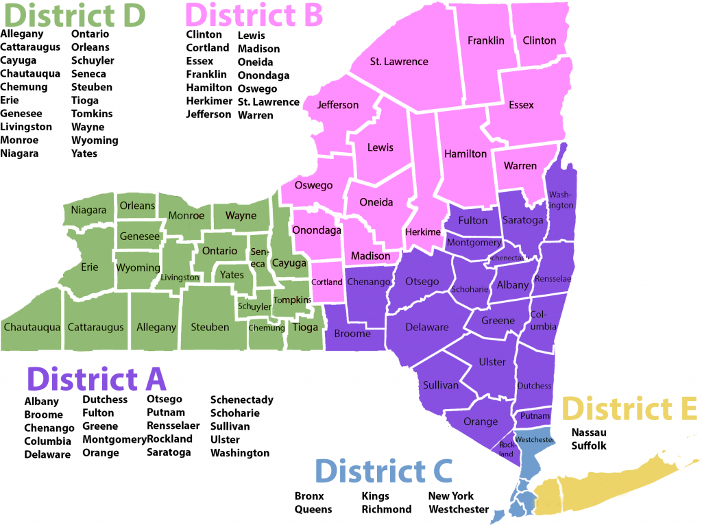 Nysspa District Map - New York State Society Of Physician Assistants within Ny State Representative District Map