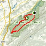 Oak Mountain Red Trail Loop   Alabama | Alltrails Regarding Oak Mountain State Park Alabama Trail Map