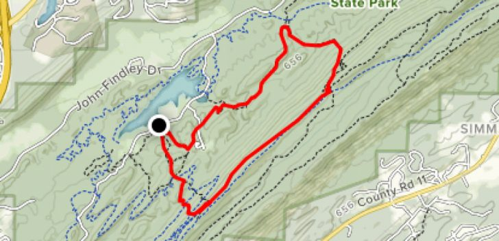 Oak Mountain State Park Trail Map