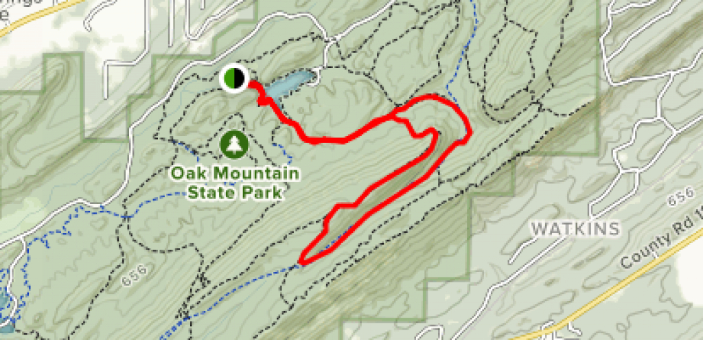 Oak Mountain Tranquility Lake And White Trail Loop - Alabama | Alltrails throughout Oak Mountain State Park Trail Map