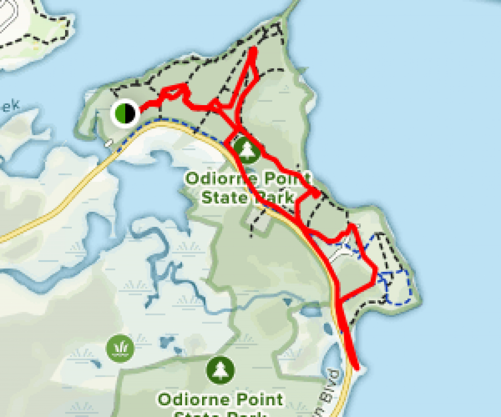Odiorne Point Loop Trail - New Hampshire | Alltrails in Odiorne State Park Trail Map