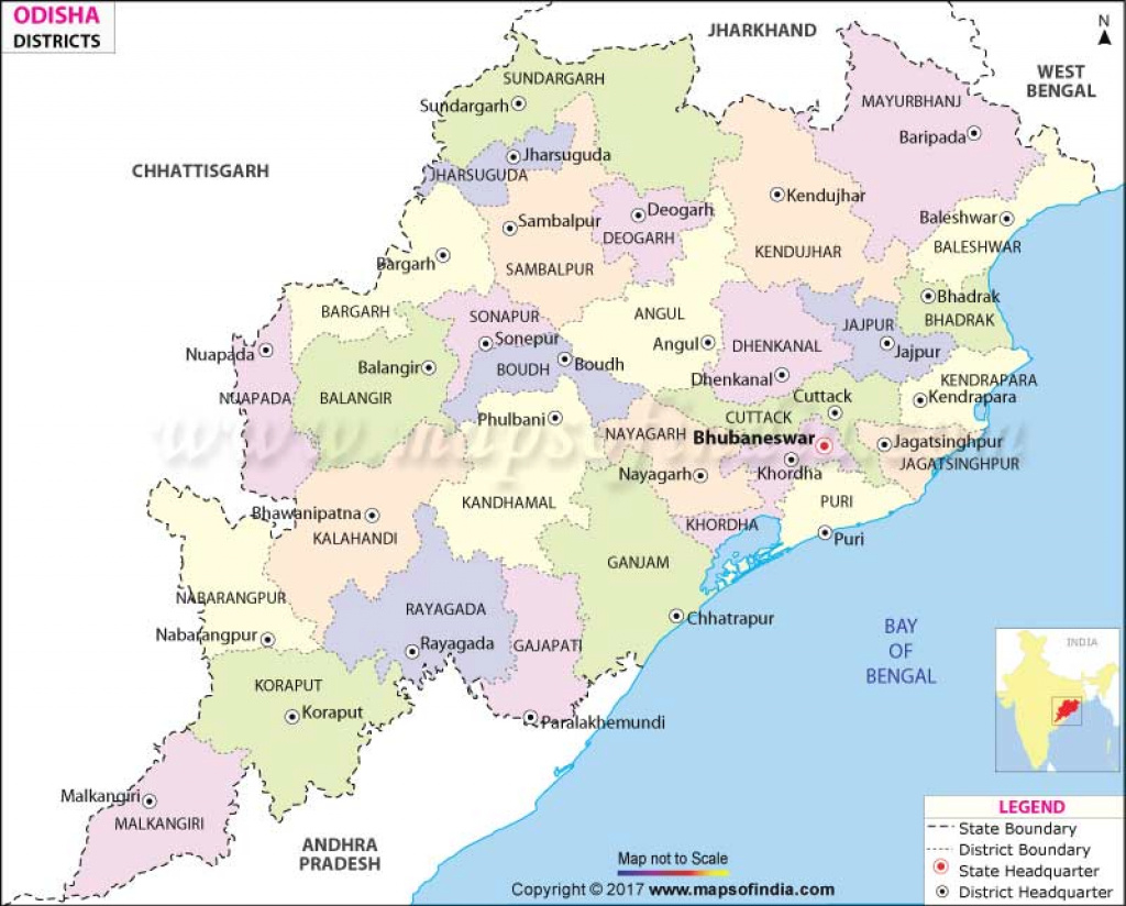 Odisha District Map, District Map Of Orissa for State Map Com