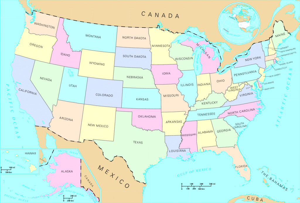 Ofbeeldienge:us Map - States - Wikipedia intended for Us Map Image With States