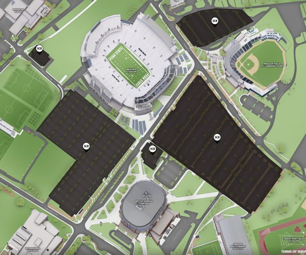 Off Campus Student Permits | Psu Transportation Services For Penn State Stadium Parking Map