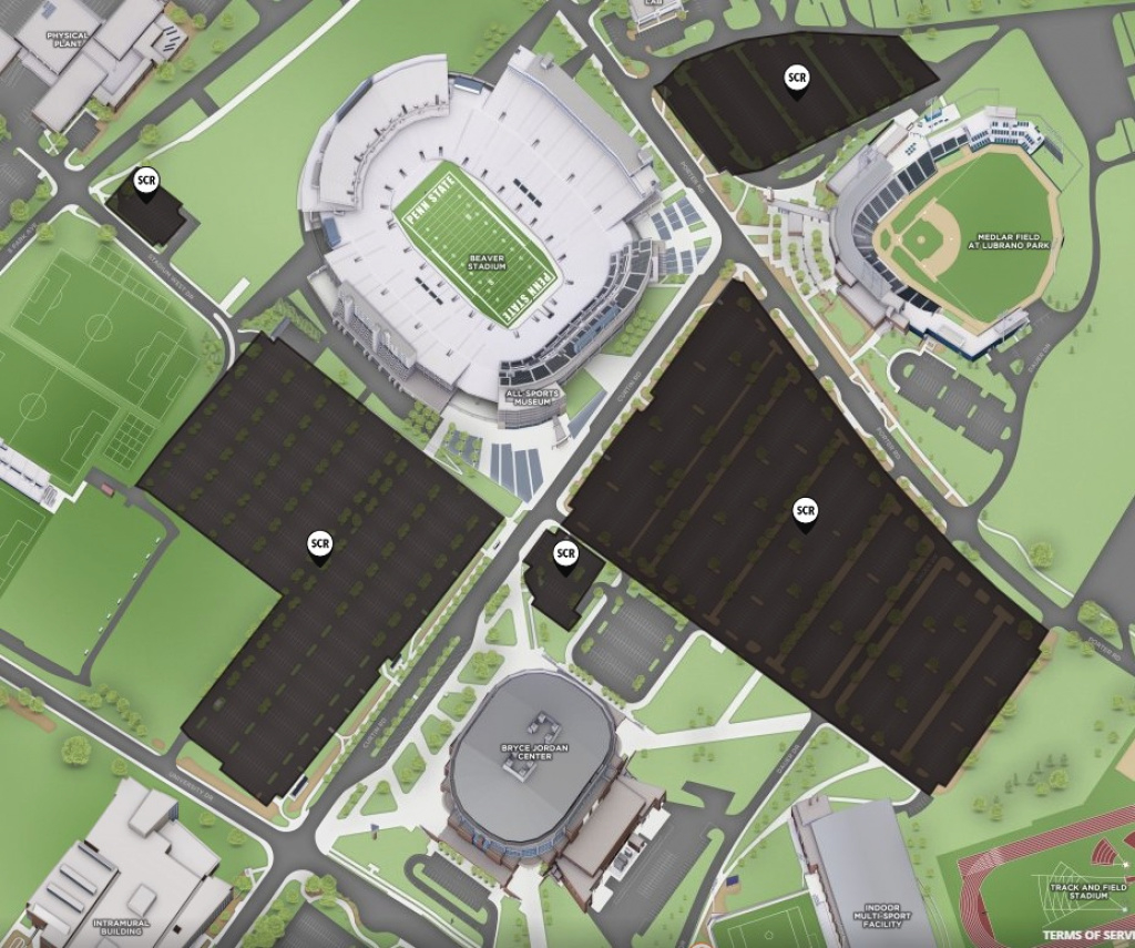 Off-Campus Student Permits | Psu Transportation Services within Penn State Football Parking Green Lot Map