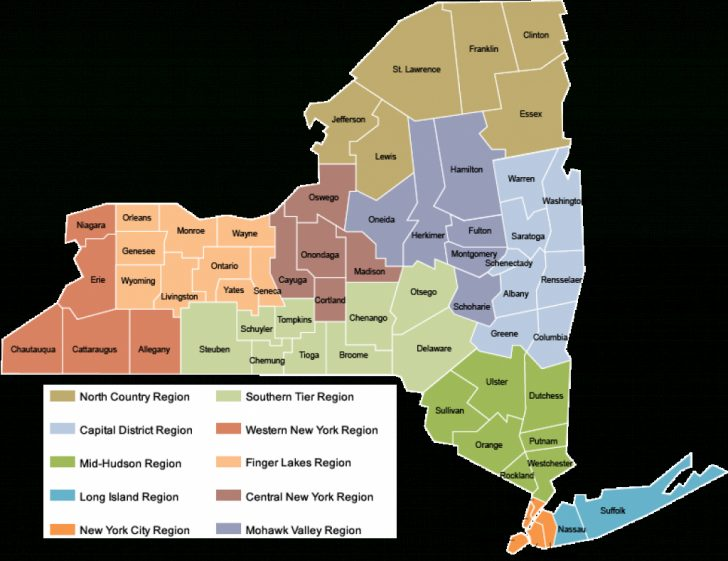 New York State Map Pdf