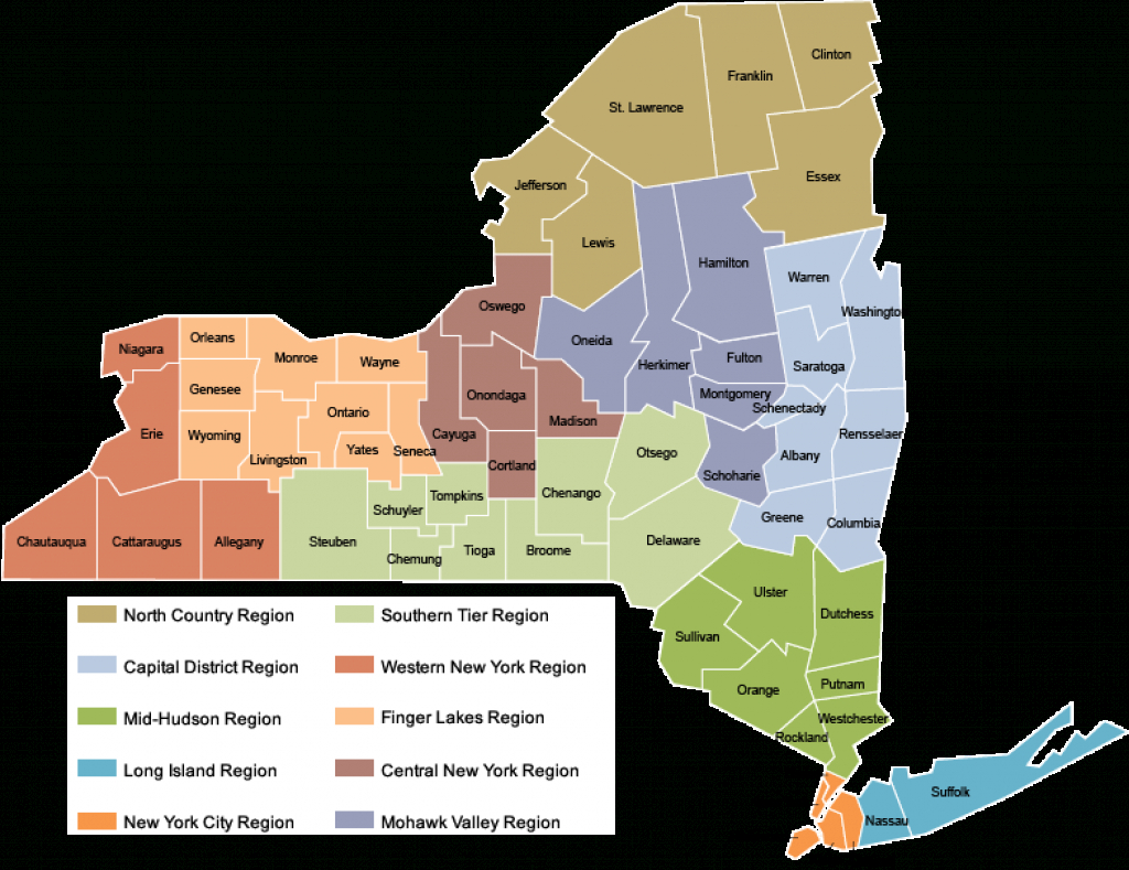 Office Of The New York State Comptroller - Regional Education Dashboards for New York State Map Pdf