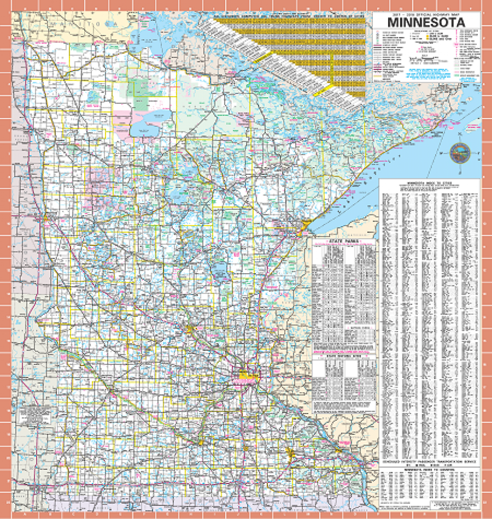 Official Minnesota State Highway Map throughout State Highway Map