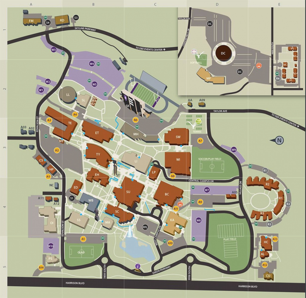 Ogden Campus Map regarding Weber State Map