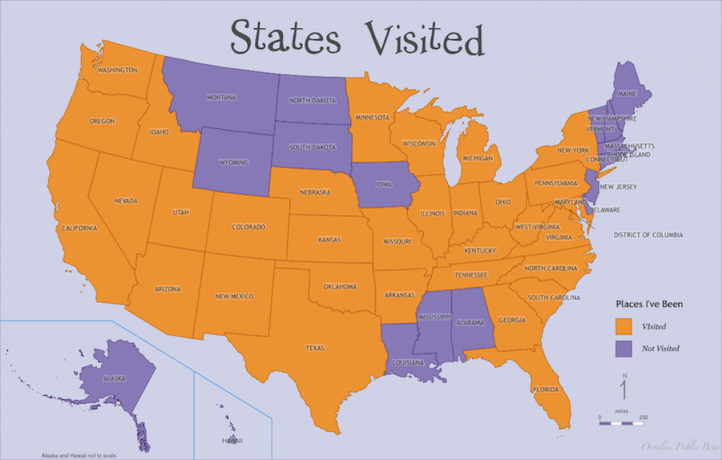 Oh, The Places You've Been! Working With Ortelius Map Templates inside States Ive Been To Map