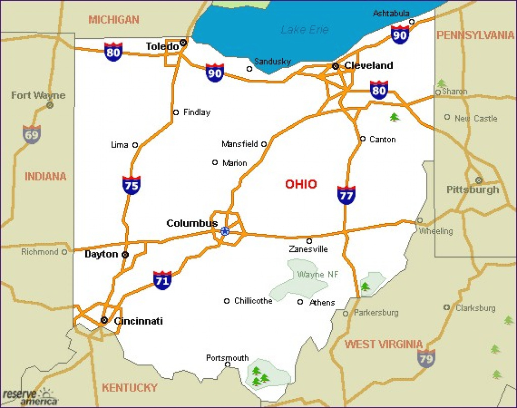 Ohio Camping Resources And Information in Ohio State Parks Camping Map