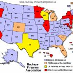 Ohio Ccw Reciprocity Map | Buckeye Firearms Association With Concealed Carry States Map 2016