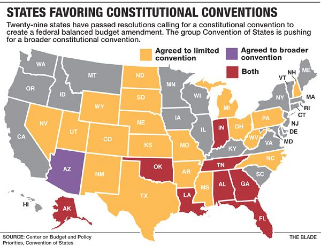 Ohio Considers Joining Call For Constitutional Convention - The Blade with regard to Convention Of States Map