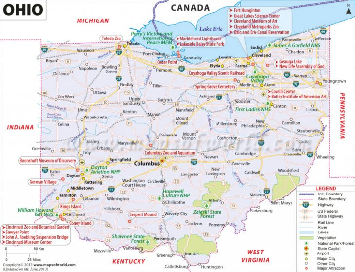 Ohio State Road Map