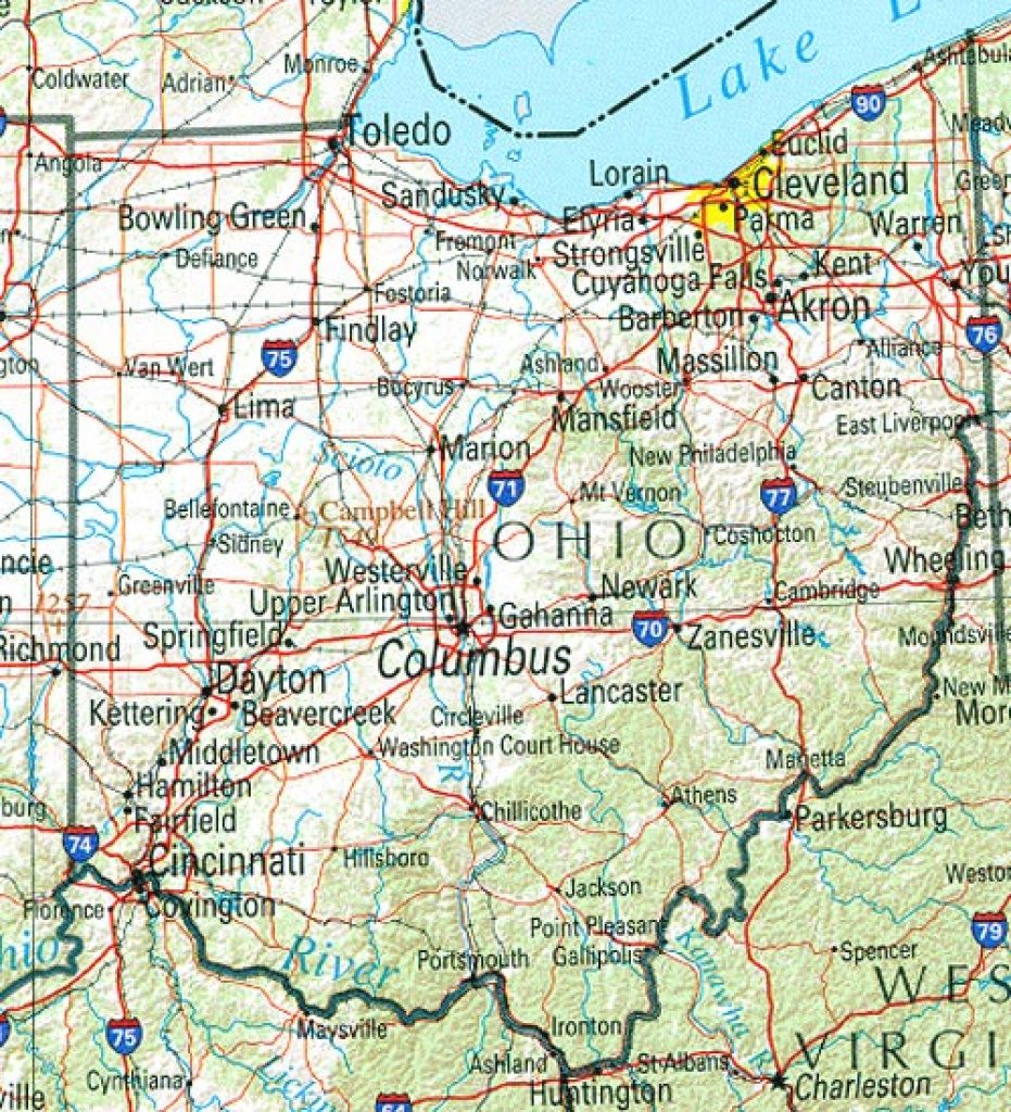 Ohio Maps   Perry Castañeda Map Collection   Ut Library Online Pertaining To Ohio State Road Map