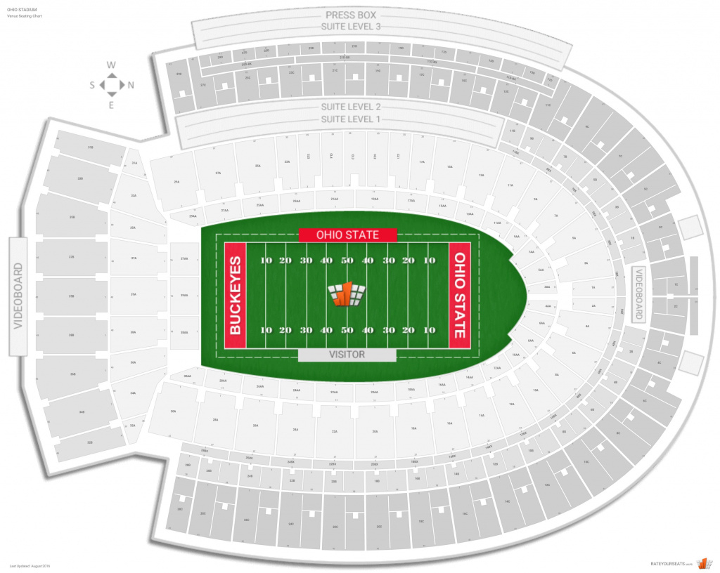 Ohio Stadium (Ohio State) Seating Guide - Rateyourseats intended for Penn State Football Stadium Seating Map With Rows
