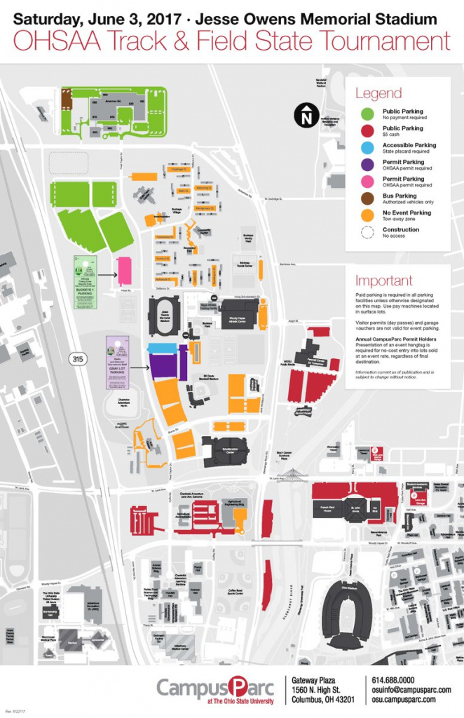 """Ohio State Athletics Ticket Office On Twitter: """"🚘 Parking Could Be regarding Ohio State Parking Map"""