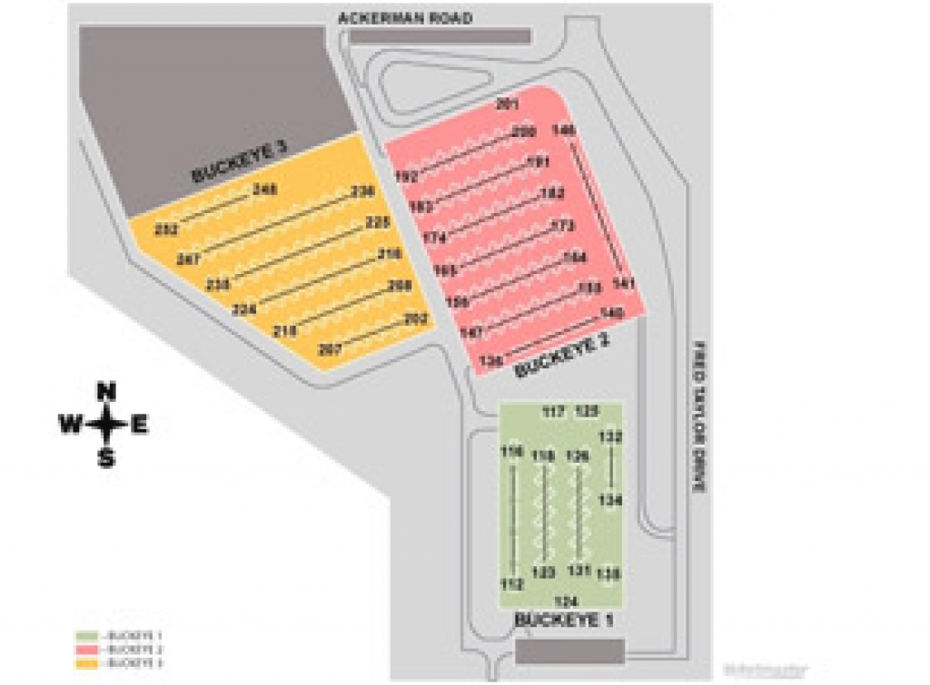 Ohio State Buckeyes Football Rv Parking Tickets, Dates. Official inside Ohio State Parking Map
