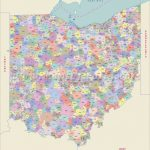 Ohio Zip Code Map, Ohio Postal Code With Regard To State Of Ohio Map Showing Counties