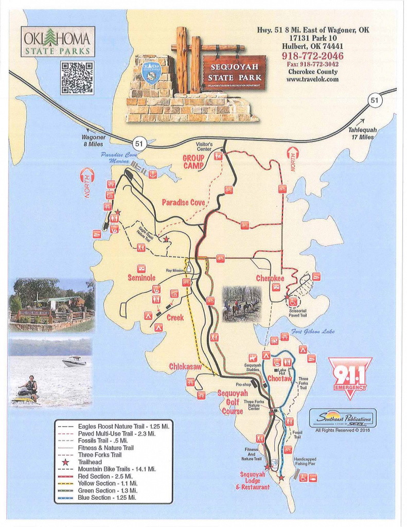 Oklahoma State Parks - Campsite Reservation System intended for State Park Map