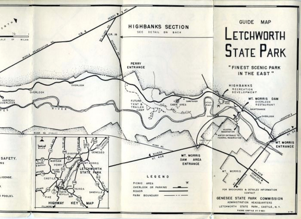 Old Letchworth State Park Map (Just A Cool Old Map I Found And Saved with Letchworth State Park Trail Map