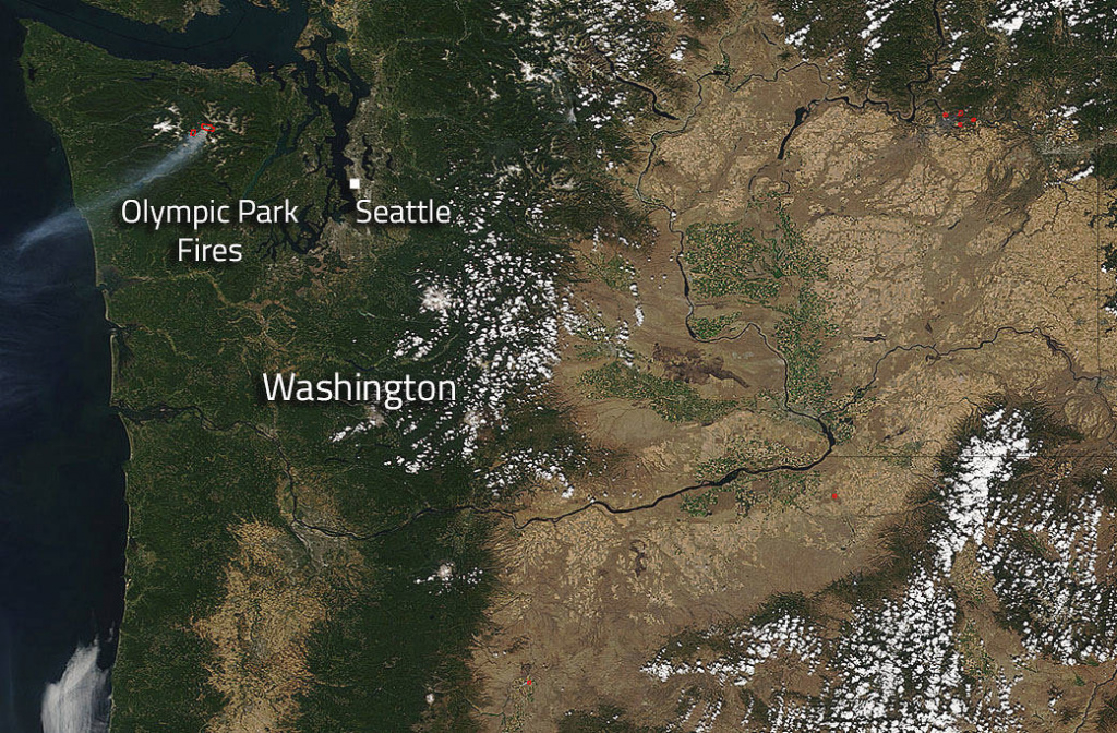 Olympic National Park Fires In Washington State | Nasa within Fires In Washington State 2017 Map