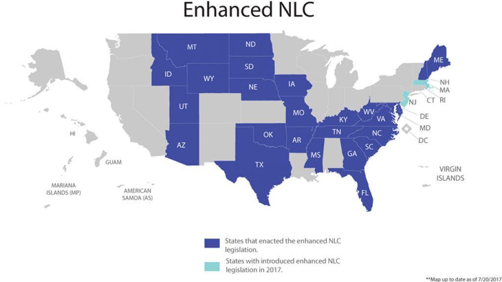 One State Has Made It Real: N.c. Brings Enhanced Nurse Licensure Home for Nursing Compact States Map